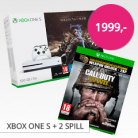 Xbox One S + Shadow of War + Call Of Duty WW2